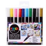 Posca PCF-350 1mm - 10mm Brushes 10 Piece Set